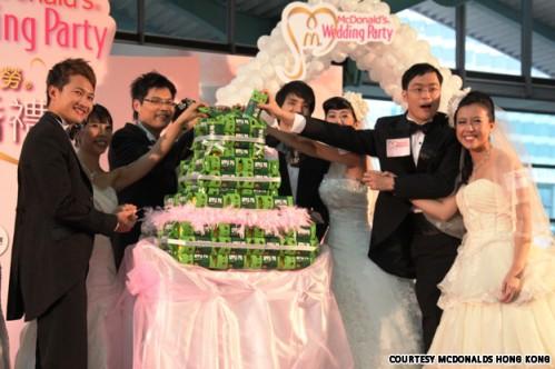 Mcdonalds Wedding Cake Hong Kong