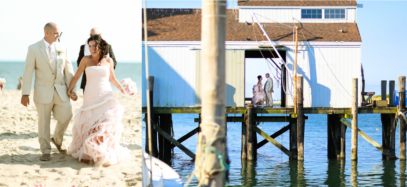 Brautpaar Strand und Wasser