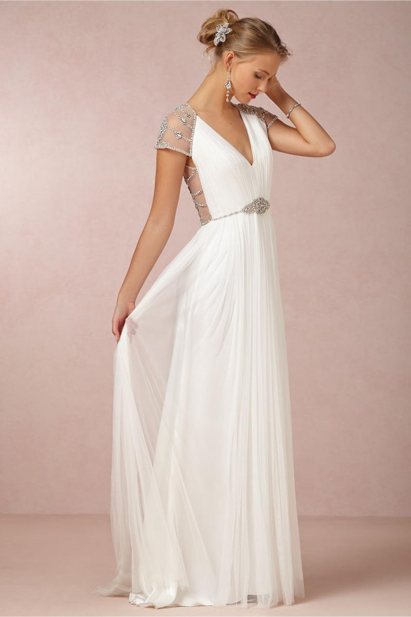 Perlen spitze ombre romantische brautkleider von bhldn for Wedding dress second marriage over 50