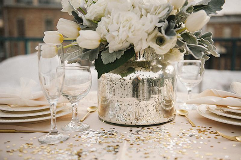 Hochzeit Im Winter Hochzeitsinspiration In Gold amp Wei