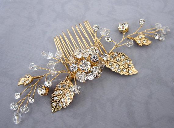 Brautschmuck gold  Brautaccessoires für den Herbst