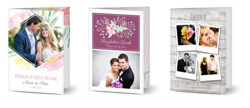 Ausgefallene Dankeskarten zur Hochzeit