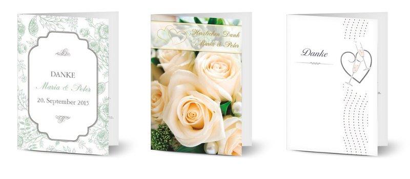 Personalisierbare Danksagungskarten zur Hochzeit