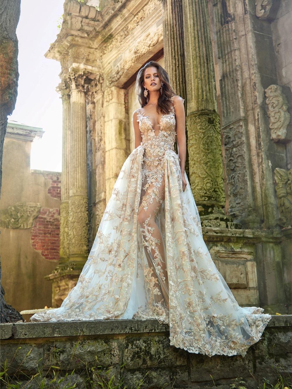 Brautkleid von Galia Lahav mit abnehmbaren Rock