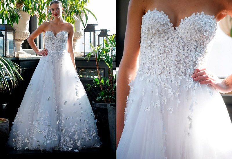 Brautkleid mit Spitzenbesatz von Francesca Miranda auf dem Hochzeitsblog Brautsalat