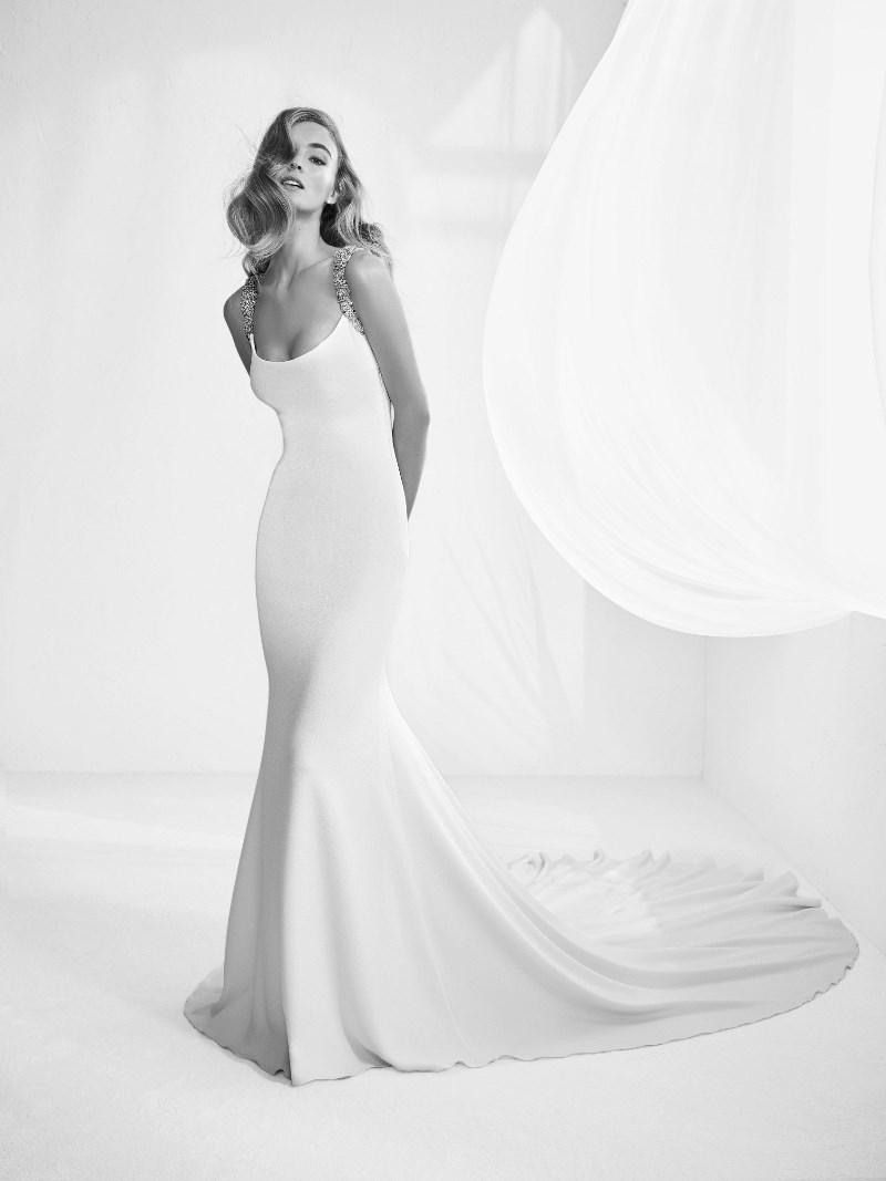 Meerjungfrauen Brautkleid Pronovias Preview Kollektion 2018 Hochzeitsblog Brautsalat