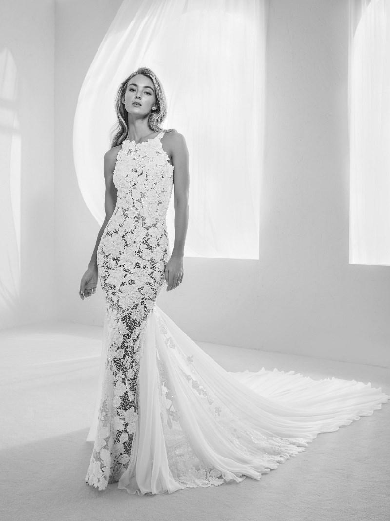 Spitze Brautkleid Pronovias Preview Kollektion 2018 Hochzeitsblog Brautsalat