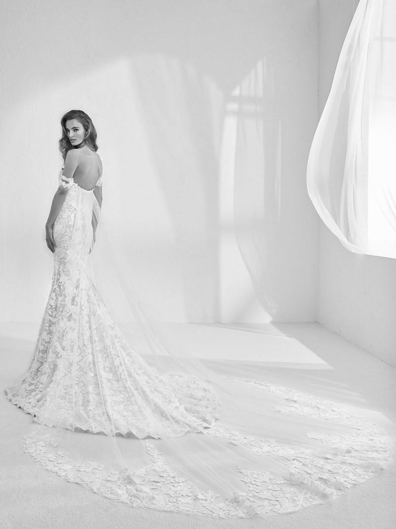 Spitze Schleppe Brautkleid Pronovias Preview Kollektion 2018 Hochzeitsblog Brautsalat